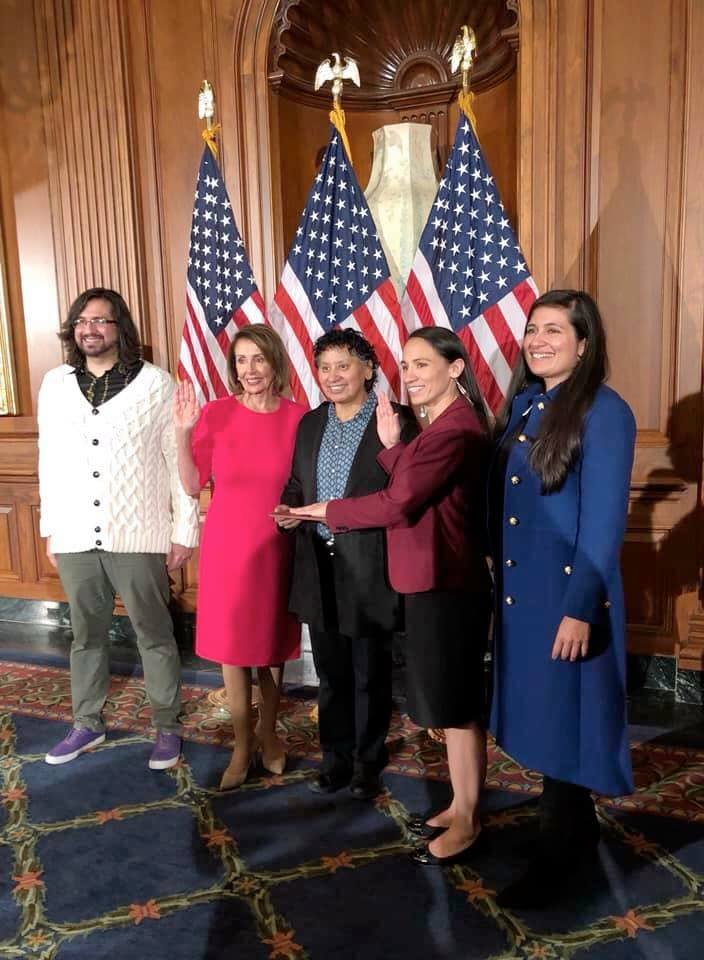 Several Ho-Chunk people travel, witness Sharice take oath to Congress